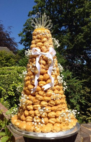 Croquembouche delivered to Careys Manor
