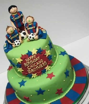 Family football cake