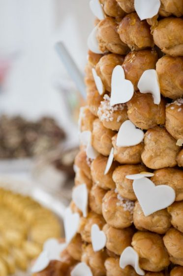 Close up of Smedmore House Croquembouche.