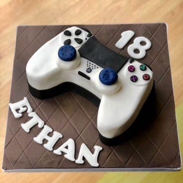 Playstation controller birthday cake